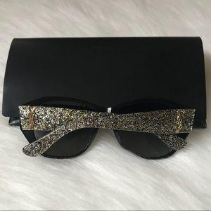 YSL gold & silver glitter sunglasses